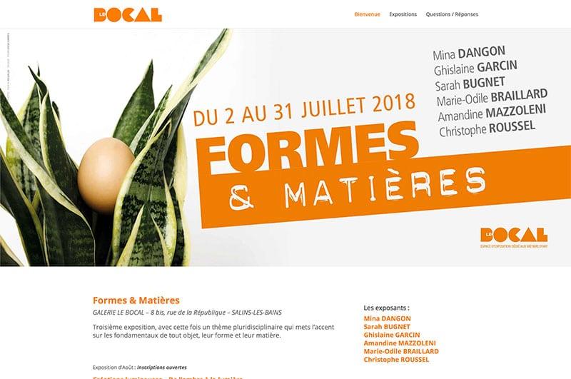 Site Galerie Le Bocal