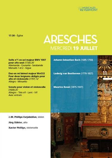 Musicales du Revermont - Catalogue - Concert Aresche
