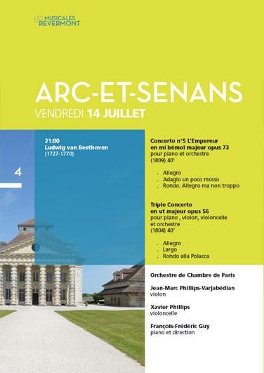 Musicales du Revermont - Catalogue - Concert Arc-et-Senans