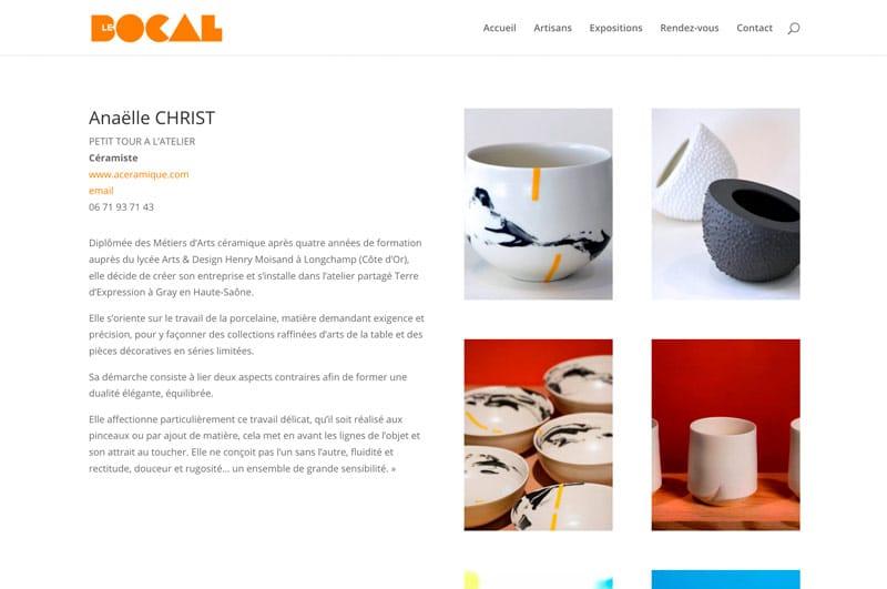 LeBocal - Fiche artisan