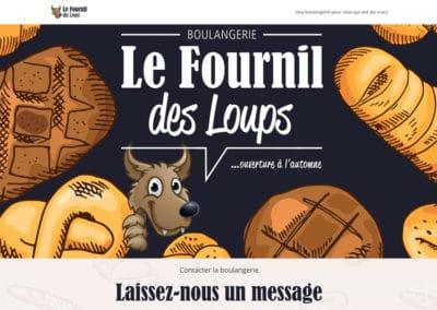Accueil site web - Le Fournil des loups