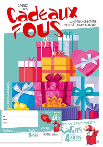 2017 - Les 4 jours de Salins - Programme, flyer loterie et tombola