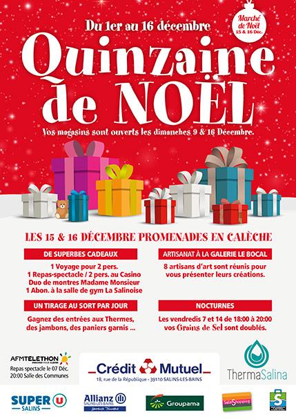 2018 - Quinzaine de Noël - Affiche