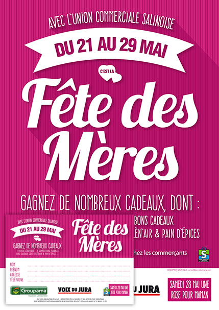 2016 - Fête des mères - Affiche et ticket tombola