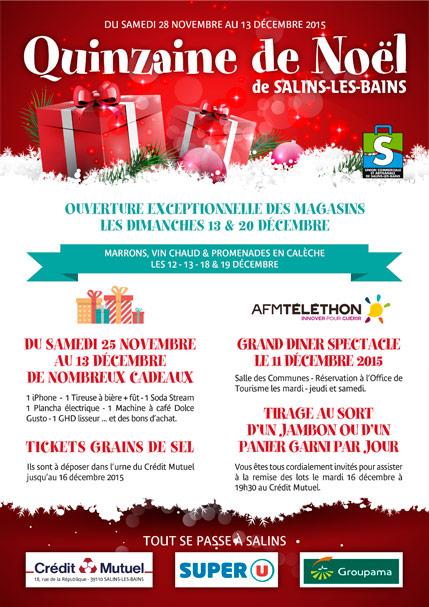 2015 - Quinzaine de Noël - Flyer programme