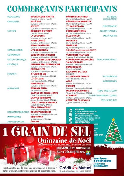 2015 - Quinzaine de Noël - Flyer et tickets